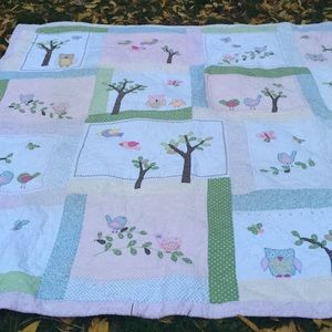 Final reduction Pottery Barn kids Hayley Quilt set